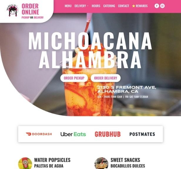 Michoacana Alhambra Ice Cream Website Project